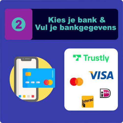 Kies je bank & Vul je bankgegevens casinozonder.com
