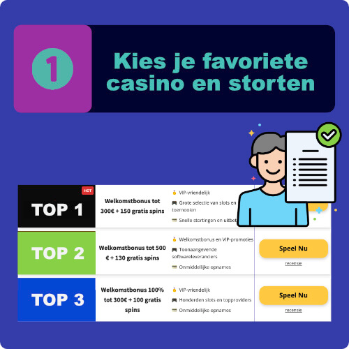 Kies je favoriete casino en sorten casinozonder.com