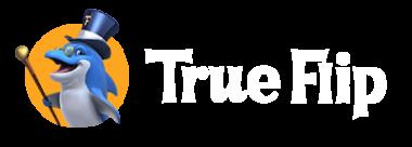 trueflip casino logo white